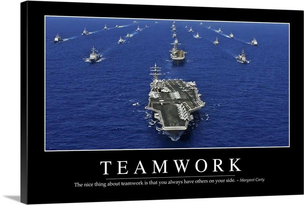 Teamwork: Inspirational Quote and Motivational Poster Wall Art ...