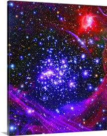 The Arches star cluster deep inside the hub of our Milky Way Galaxy