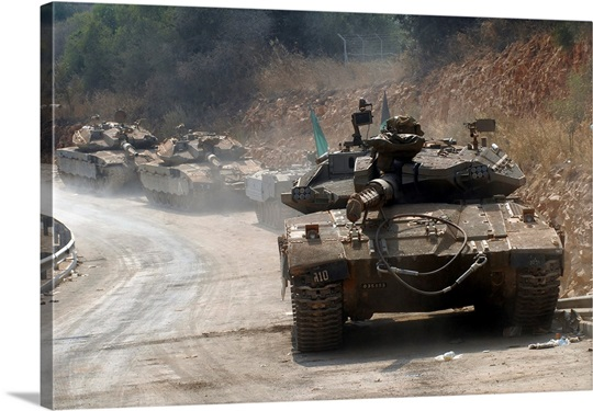 The Merkava Mark IV main battle tank of the Israel Defense Forces