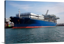 The Norwegian general cargo and container ship Star Java docked pierside