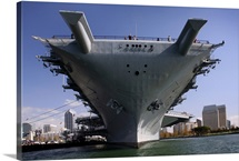 The USS Midway berthed pierside