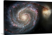 The whirlpool galaxy M51 and companion galaxy