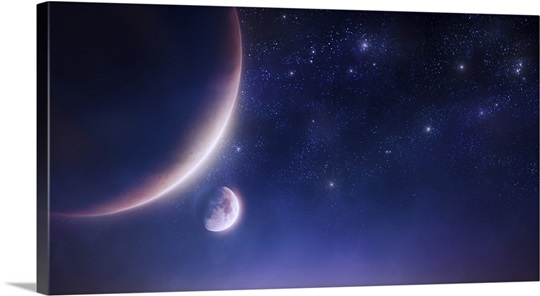 starry sky with planets - photo #26
