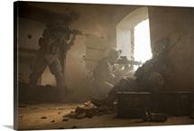 U.S. Army Rangers in Afghanistan combat scene