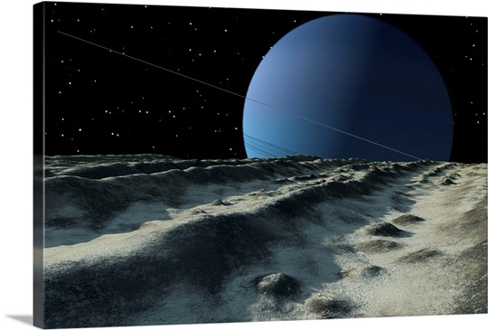 Uranus Moon Miranda Is Covered With Meandering Cracks And
