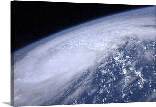 View from space of Hurricane Irene as it passes over the Caribbean