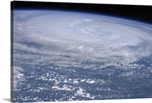 View from space of Hurricane Irene off the east coast of the United States