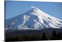 Villarrica steaming crater Araucania region Chile