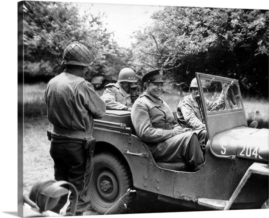 Vintage World War II photo of General Dwight D. Eisenhower sitting in ...