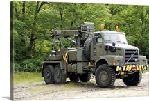 Volvo N10 truck crane of the Belgian Army
