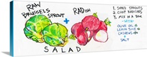 Raw Brussels Sprout & Radish Salad