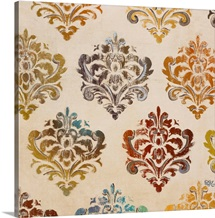 Colorful Damask Square II