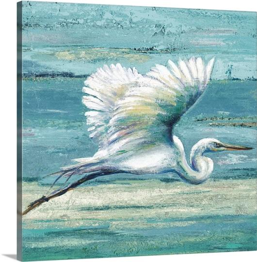 Great Egret I Photo Canvas Print Great Big Canvas