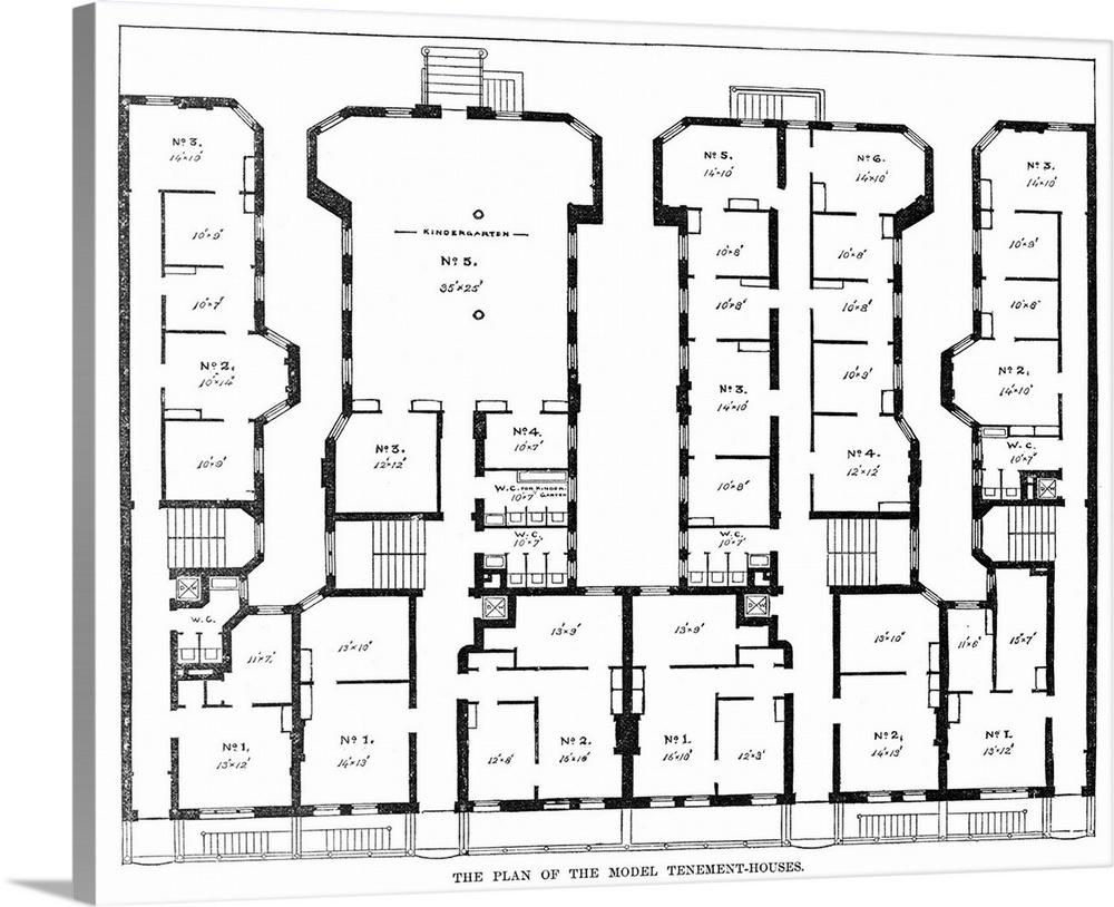 Tenement housing floor plans