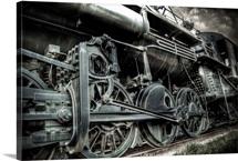 An old locomotive train