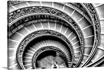 Spectacular spiral staircase in the Vatican Museums in Rome, Italy