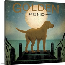 Moonrise Yellow Dog - Golden Pond