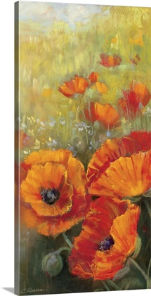 Orange Poppy Panel