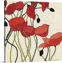 Poppies and Cream I