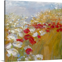 Poppies and Larkspur II