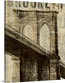 Vintage NY Brooklyn Bridge