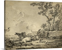 Pastoral Etching II
