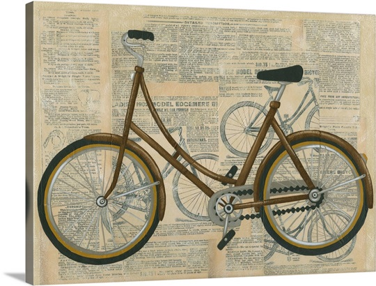 tour by bicycle ii wall art canvas prints framed prints wall peels great big canvas. Black Bedroom Furniture Sets. Home Design Ideas