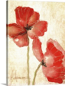 Vivid Red Poppies IV