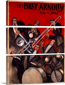 Billy Arnold Jazz Band,Vintage Poster, by Paul Colin