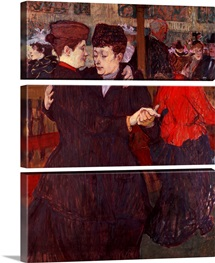 At the Moulin Rouge: The Two Waltzers, 1892 (board)