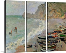 Etretat, beach and the Porte dAmont, 1883 (oil on canvas)