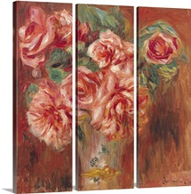 Roses in a Vase, c.1890 (oil on canvas)