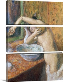 Woman washing herself (pastel)