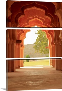 Arches of Lotus Temple, Hampi, Karnataka, India.