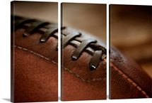 Close up of american football ball