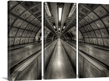 Underground tunnel, London, UK.