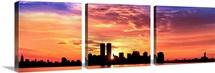 US, New York City, skyline, sunrise