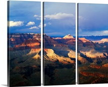 View of Grand Canyon from Shoshone Point, storm cloud shadows, south rim, Grand Canyon National Park, Arizona