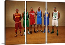 Daniel Gibson, Ray Allen, James Jones, Kevin Durant, Dorell Wright, Pau Pierce
