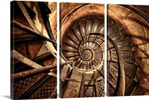Old Spiral Stairwell in Paris, France