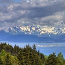 Bluff overlooking Homer Spit, Alaska