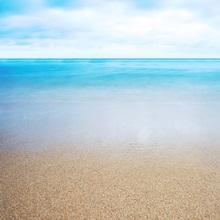 Hawaii, Oahu, Beautiful Seascape Of The Ocean And Sand