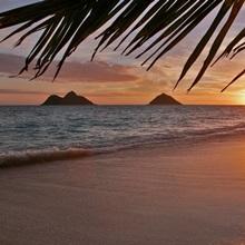 Hawaii, Oahu, Lanikai, Early Morning With The Mokolua Islands In The Distance