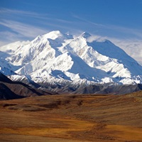 Mt McKinley and Alaska Range, Denali National Park, Interior, Alaska