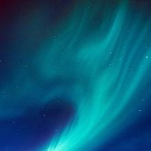 Northern Lights over Portage Lake and Chugach Mountains, Southcentral, Alaska
