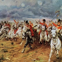 Scotland Forever. The Royal Scots Greys Charge At Waterloo. 1934