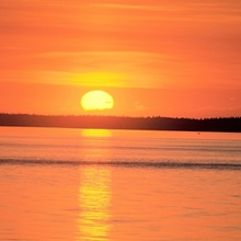 Sunset Cook Inlet SC Alaska Summer