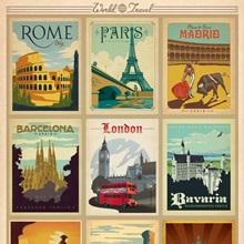 World Travel Collection I - Retro Travel Posters