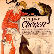 Clinique Cheron, Vintage Poster, by Theophile Alexandre Steinlen
