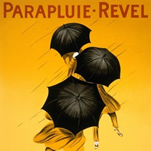 Parapluie Revel, 1922, Vintage Poster, by Leonetto Cappiello